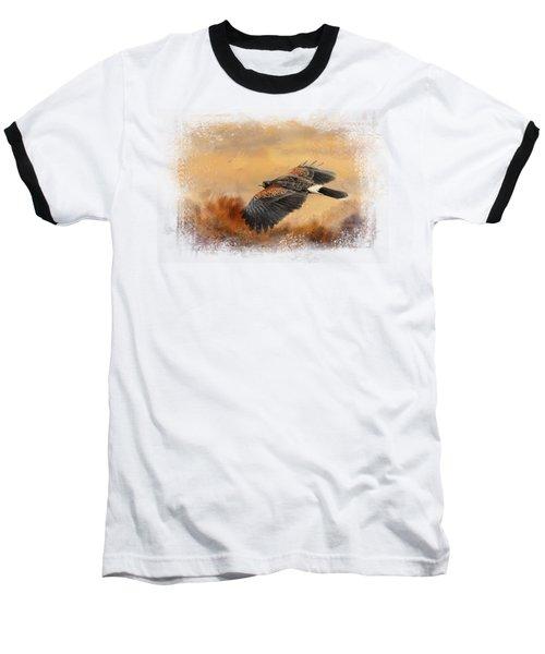 Harris Hawk In Autumn Baseball T-Shirt
