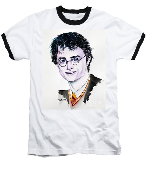 Baseball T-Shirt featuring the painting Harry Potter by Maria Barry