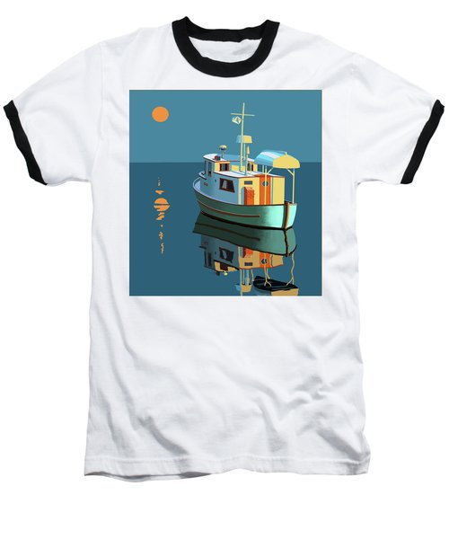 Baseball T-Shirt featuring the painting Harvest Moon by Gary Giacomelli
