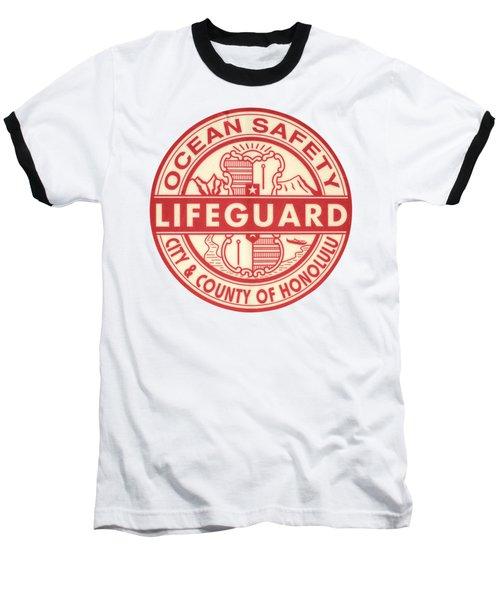 Hawaii Lifeguard Logo Baseball T-Shirt by Mr Doomits