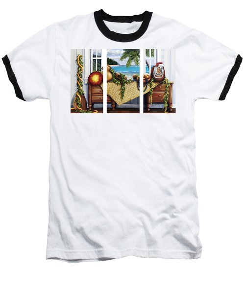 Hawaiian Still Life With Haleiwa On My Mind Baseball T-Shirt