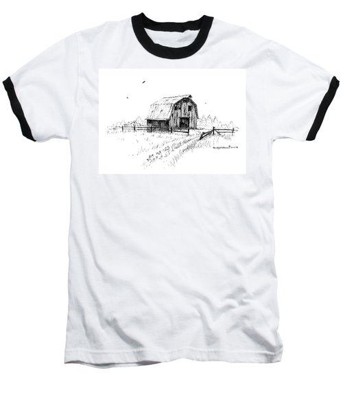 Hay Barn With Broken Gate Baseball T-Shirt