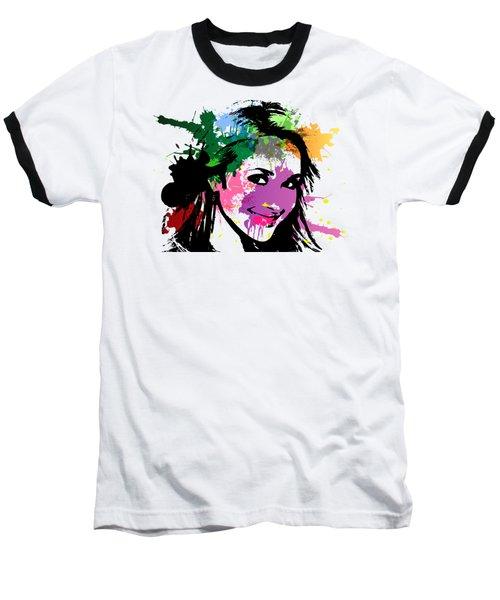 Hayden Panettiere Pop Art Baseball T-Shirt