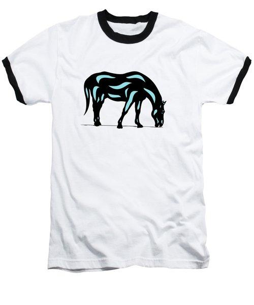 Hazel - Pop Art Horse - Black, Island Paradise Blue, Hazelnut Baseball T-Shirt