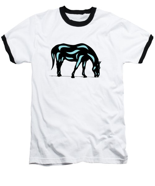 Hazel - Pop Art Horse - Black, Island Paradise Blue, Hazelnut Baseball T-Shirt