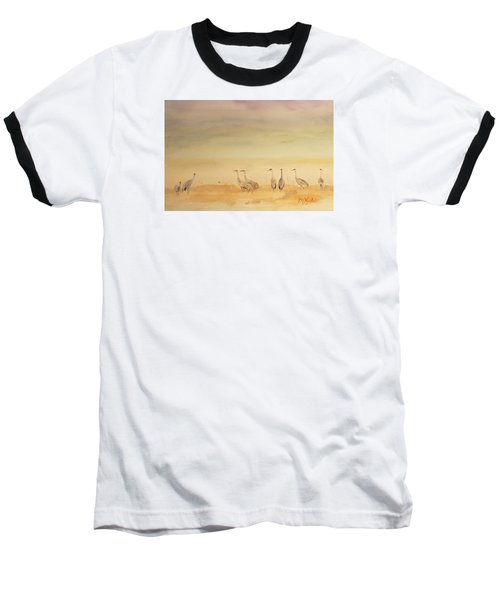 Hazy Days Cranes Baseball T-Shirt