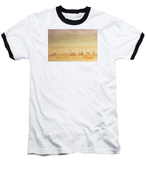 Hazy Days Cranes Baseball T-Shirt
