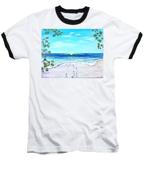 Baseball T-Shirt featuring the painting Headed Home by Dawn Harrell