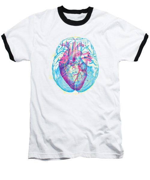Heart Brain Baseball T-Shirt