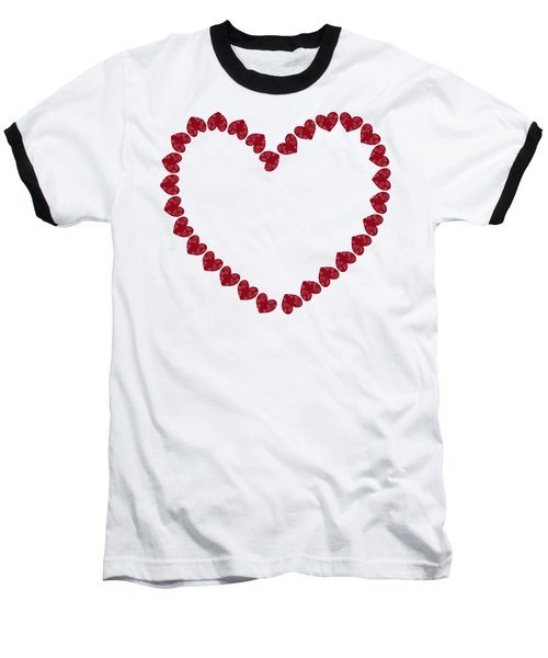 Heart From Red Hearts Baseball T-Shirt by Frank Tschakert