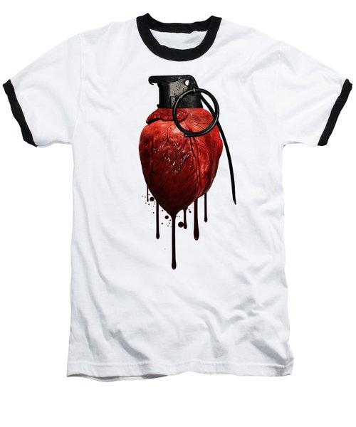 Heart Grenade Baseball T-Shirt