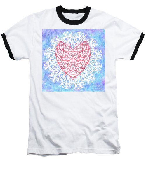 Heart In A Snowflake II Baseball T-Shirt