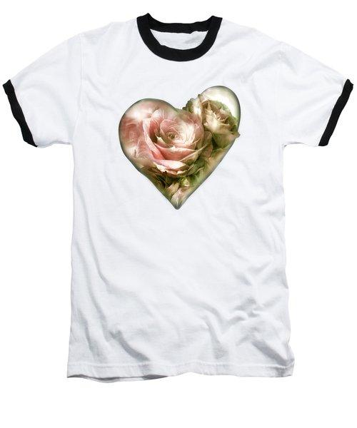 Heart Of A Rose - Antique Pink Baseball T-Shirt