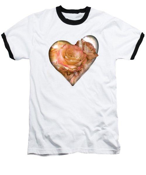 Heart Of A Rose - Gold Bronze Baseball T-Shirt