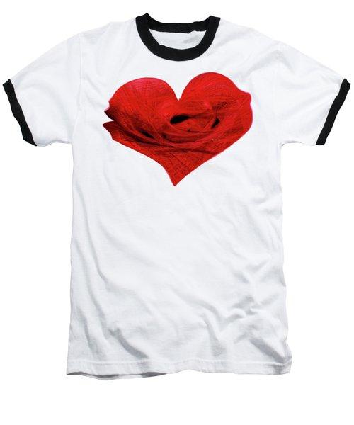 Heart Sketch Baseball T-Shirt by Rafael Salazar