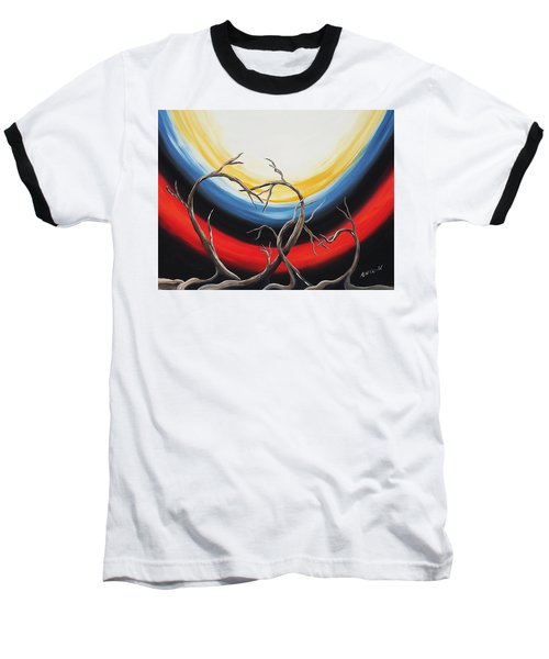 Baseball T-Shirt featuring the painting Hearts by Edwin Alverio