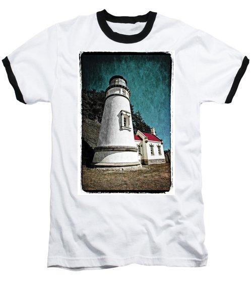 Hecitia Head Lighthouse Baseball T-Shirt by Jeffrey Jensen