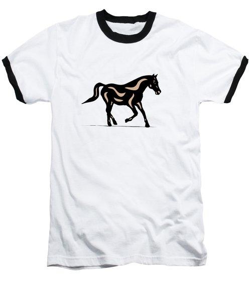 Heinrich - Pop Art Horse - Black, Hazelnut, Island Paradise Blue Baseball T-Shirt