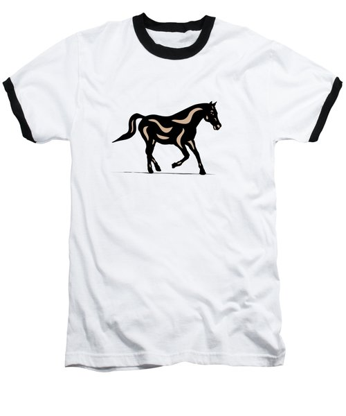Heinrich - Pop Art Horse - Black, Hazelnut, Island Paradise Blue Baseball T-Shirt