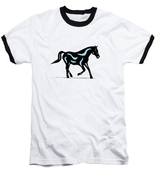 Heinrich - Pop Art Horse - Black, Island Paradise Blue, Greenery Baseball T-Shirt
