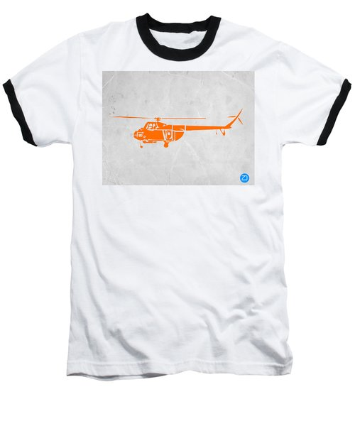 Helicopter Baseball T-Shirt by Naxart Studio