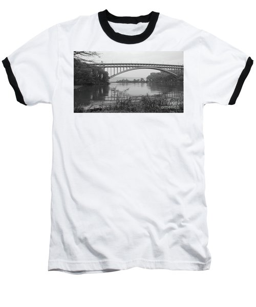 Henry Hudson Bridge  Baseball T-Shirt by Cole Thompson