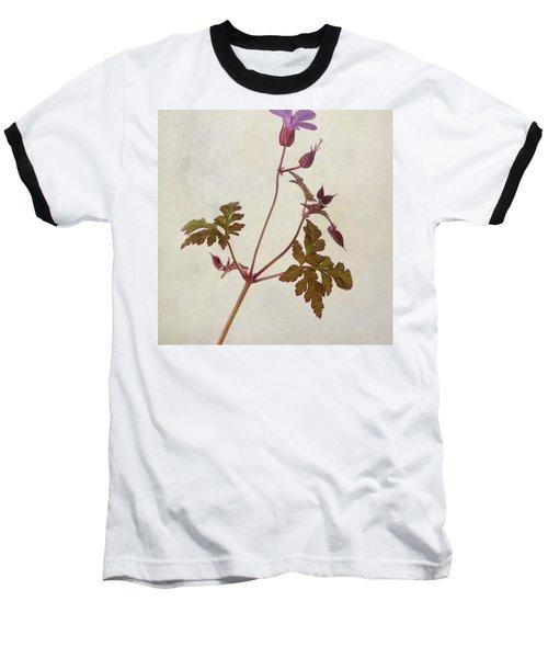 Herb Robert - Wild Geranium  #flower Baseball T-Shirt by John Edwards