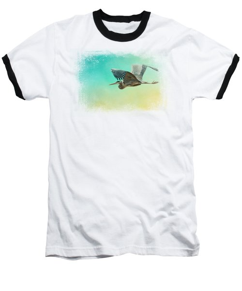 Heron At Sea Baseball T-Shirt by Jai Johnson