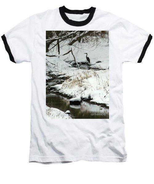 Heron In Winter Baseball T-Shirt
