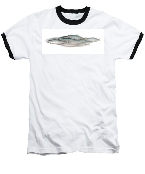 Herring School Of Fish - Clupea - Nautical Art - Seafood Art - Marine Art - Game Fish Baseball T-Shirt