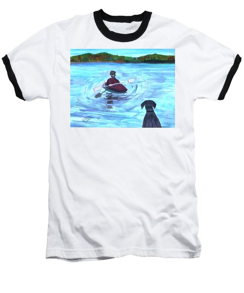 Baseball T-Shirt featuring the painting Hey Where You Going  by Donna Walsh
