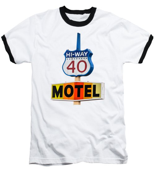 Hi-way 40 Motel Baseball T-Shirt
