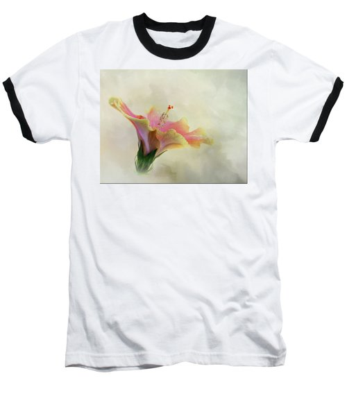 Hibiscus Art Baseball T-Shirt