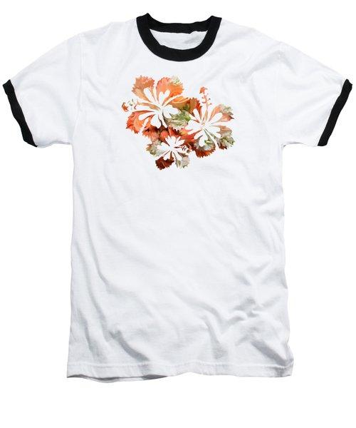 Hibiscus Flowers Baseball T-Shirt by Art Spectrum
