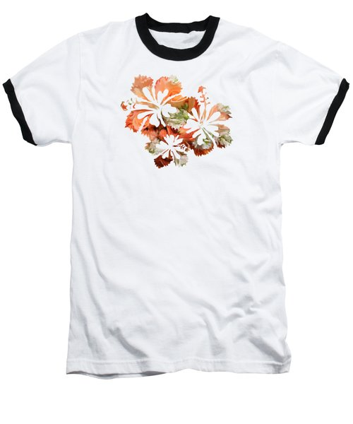 Hibiscus Flowers Baseball T-Shirt