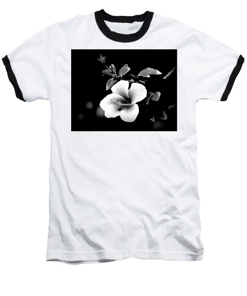 Baseball T-Shirt featuring the photograph Hibiscus In The Dark by Lori Seaman