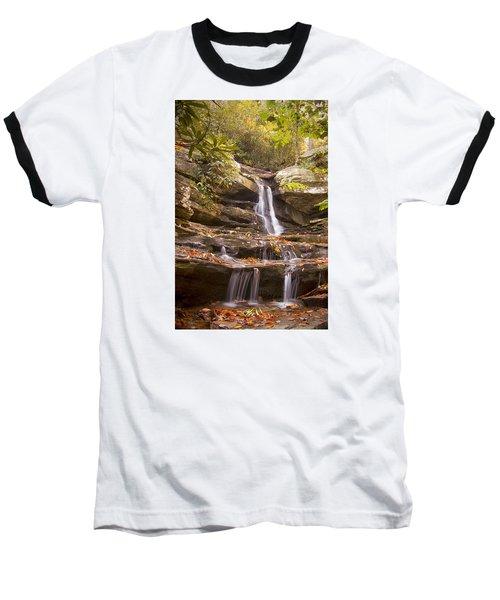 Baseball T-Shirt featuring the photograph Hidden Falls Of Danbury, Nc by Bob Decker
