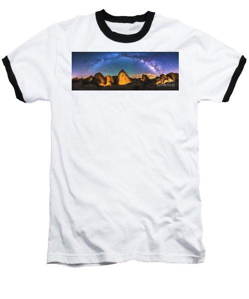 Hidden Valley Milky Way Baseball T-Shirt by Robert Loe