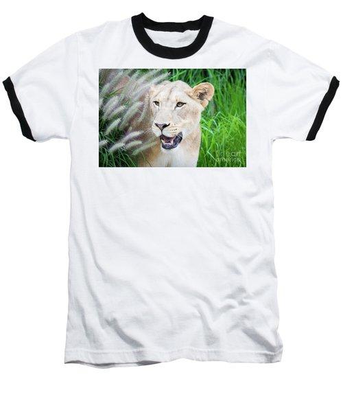 Hiding In Grass Baseball T-Shirt