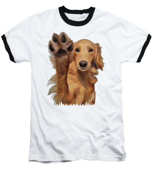 Baseball T-Shirt featuring the painting High Five by Jindra Noewi