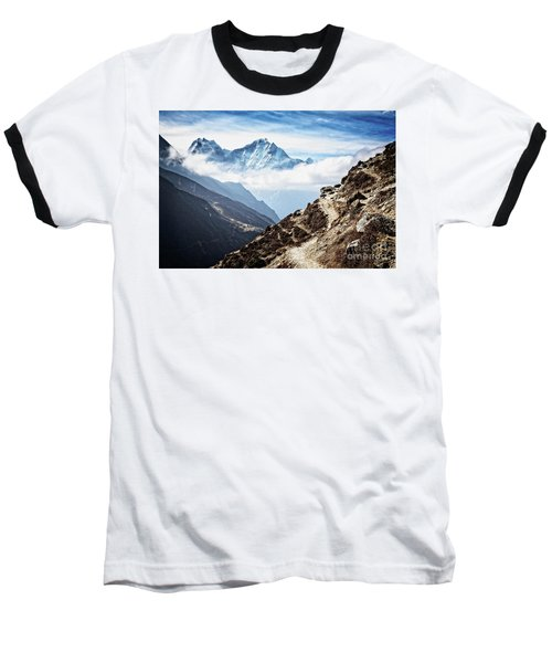 High In The Himalayas Baseball T-Shirt