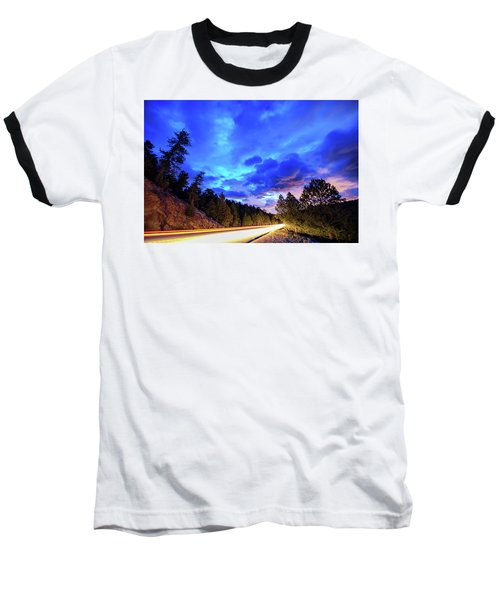 Highway 7 To Heaven Baseball T-Shirt by James BO Insogna