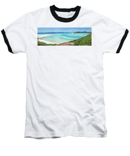 Baseball T-Shirt featuring the photograph Hill Inlet Lookout by Az Jackson