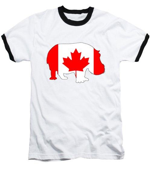 Hippopotamus Canada Baseball T-Shirt