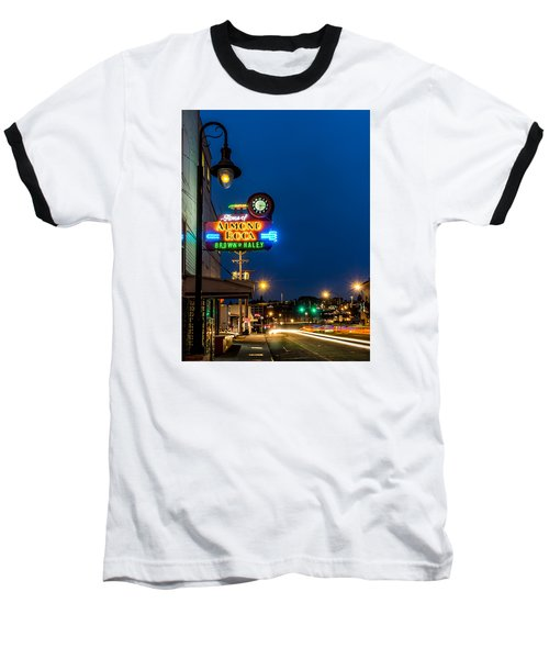 Historic Almond Roca Co. During Blue Hour Baseball T-Shirt by Rob Green