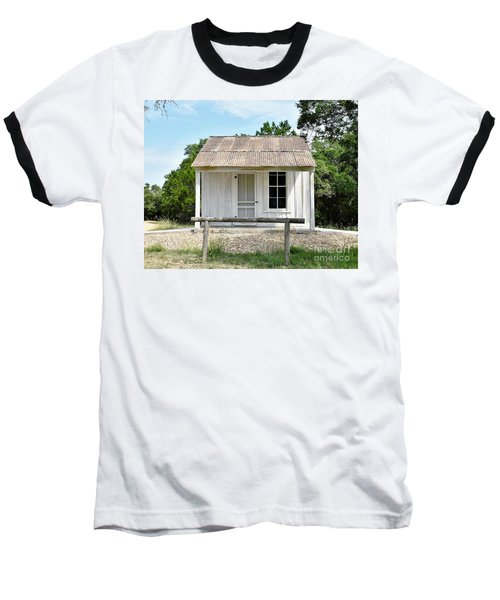 Baseball T-Shirt featuring the photograph Historic Clint's Cabin by Ray Shrewsberry