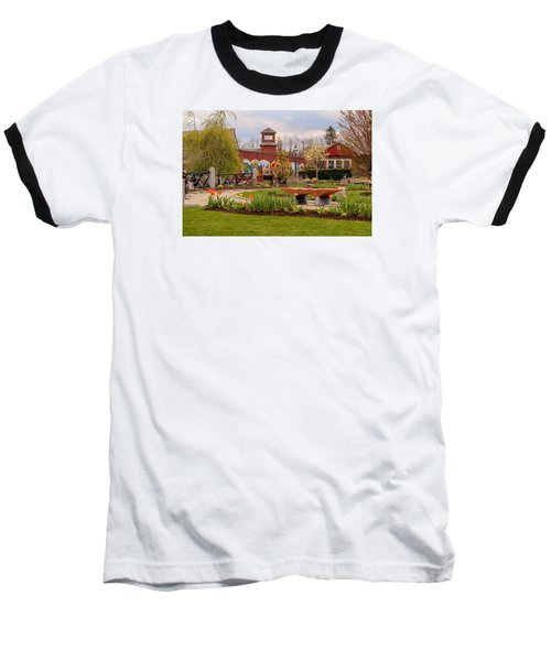 Historic Rail Station, Manhan Rail Trail Easthampton Baseball T-Shirt