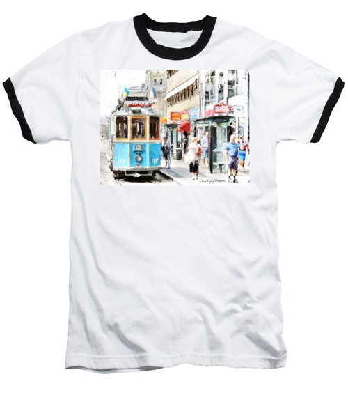 Historic Stockholm Tram Baseball T-Shirt