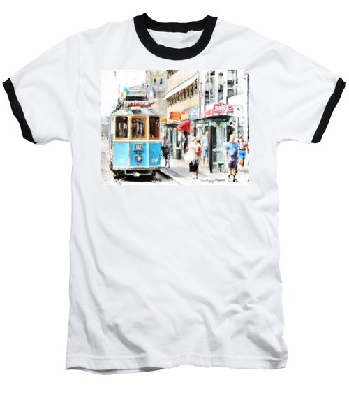 Historic Stockholm Tram Baseball T-Shirt