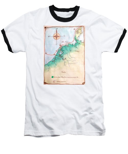 Magna Frisia- Frisian Kingdom Baseball T-Shirt by Annemeet Hasidi- van der Leij